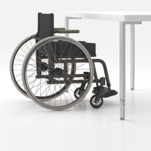 Height Adjustable Surfaces to Accommodate Wheelchairs