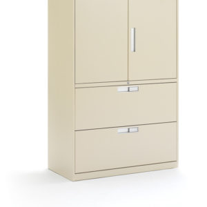 Metal Storage with Filing Drawers and Cabinet Doors