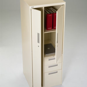 Metal Storage with Drawers and Wardrobe