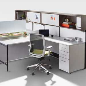 L-Shaped Workstations with Shared Storage