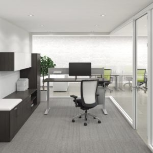 Private Office with Height Adjustable Table
